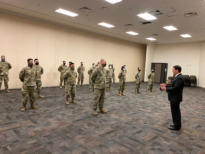 Governor Ducey Provides COVID-19 Updates, Recognizes Arizona National Guard And DEMA