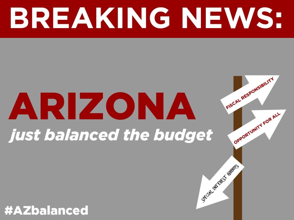 Breaking News - Arizona just balanced the budget