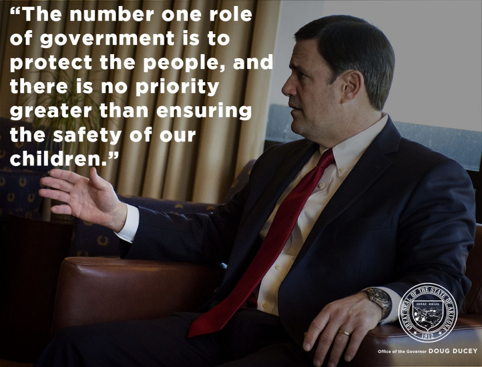 The number 1 role of government is to protect the people, and there is no priority greater than ensuring the safety of our children.