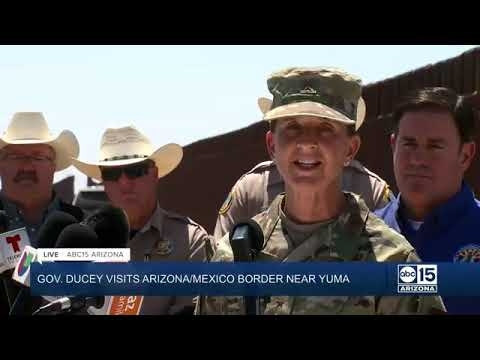 Gov. Ducey Yuma Border Press Conference (FULL)