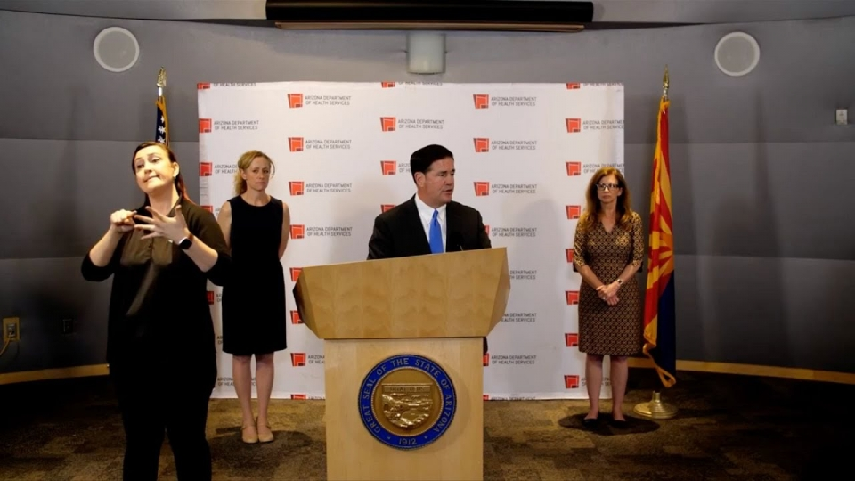 Governor Doug Ducey, Arizona Health Director Dr. Cara Christ Share COVID-19 Update