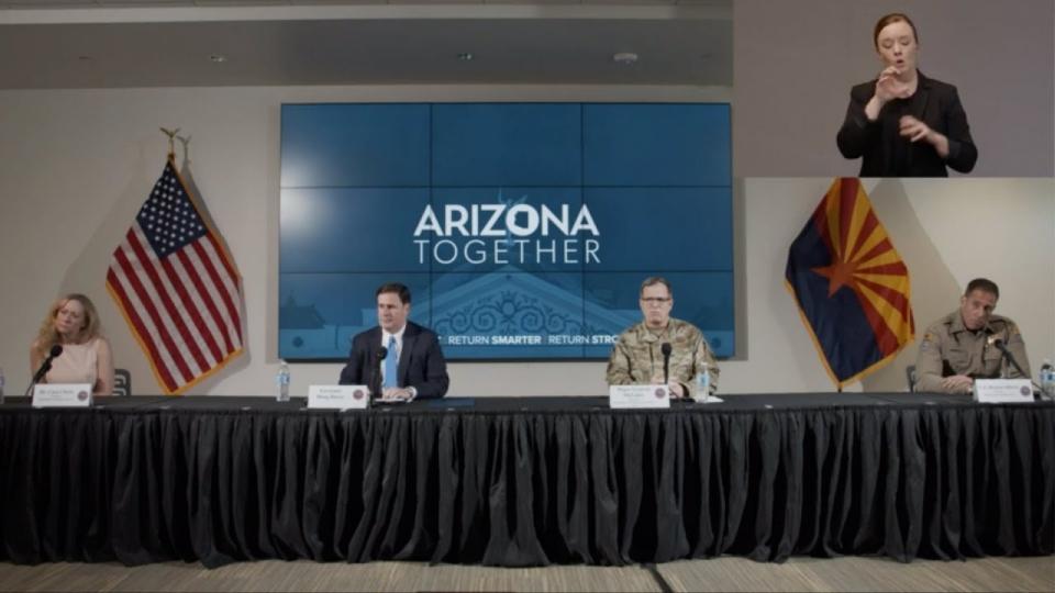 LIVE: Governor Ducey, Dr. Christ, Maj. Gen McGuire Provide Arizona COVID-19 Briefing