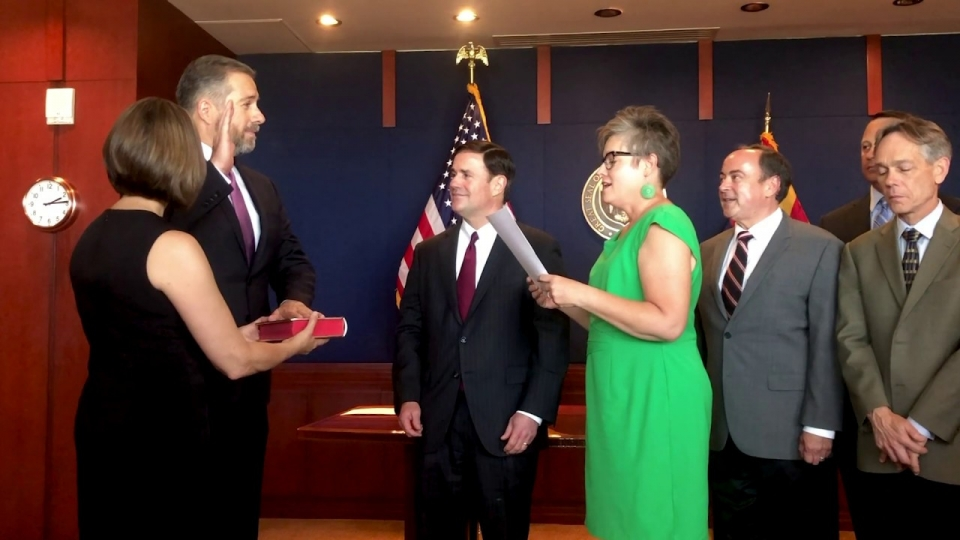 Governor Doug Ducey Swears In Arizona Supreme Court Justice James Beene