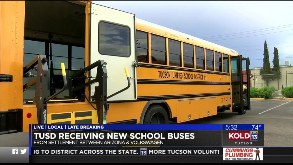 KOLD 13: TUSD Receiving New School Buses From Volkswagen Settlement