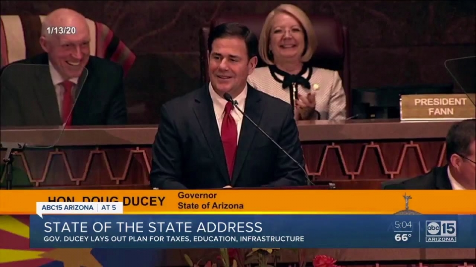 ABC 15: State of the State - Governor Ducey Lays Out Plan For Taxes, Education, Infrastructure