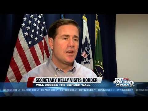 DHS Secretary, Governor Ducey Tour The Border In Nogales