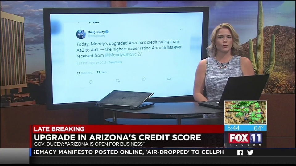 FOX 11: Upgrade In Arizona's Credit Score