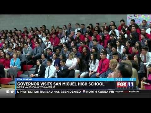Governor Ducey Visits San Miguel High School In Tucson