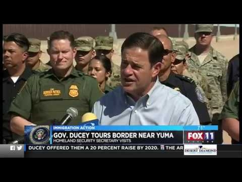 Fox 11: Gov. Ducey And Sec. Nielsen Tour Border Near Yuma