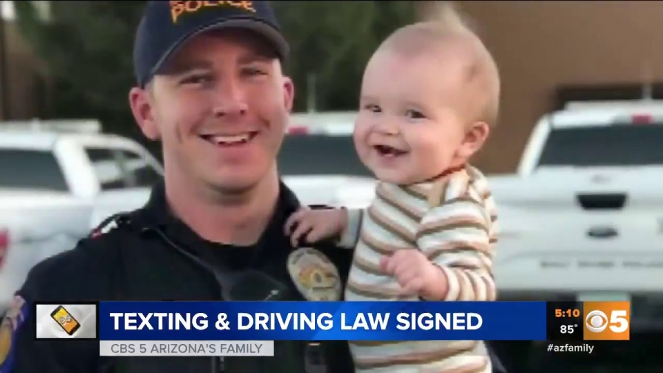 CBS 5: Texting and Driving Law Signed