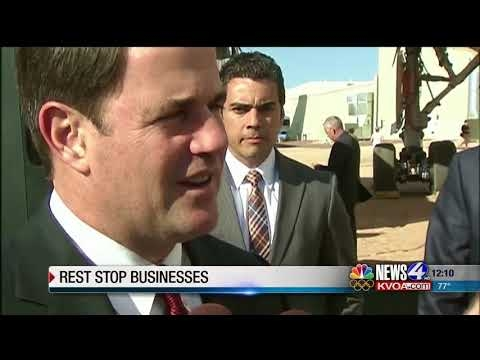 Governor Ducey Calls Upon The Feds To Allow Business To Operate Arizona Rest Stops