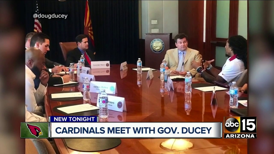 ABC15: Governor Ducey Meets With Cardinals Playters