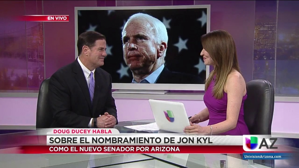 Governor Ducey On Univision With Heidi Renpenning