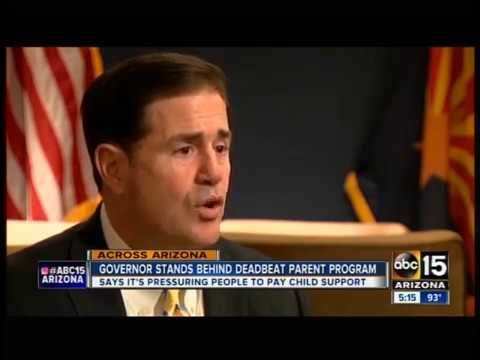 ABC 15: Governor Ducey Stands Behind Deadbeat Parent Program
