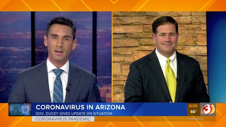 3TV: Governor Ducey Gives Update On Coronavirus Situation In Arizona