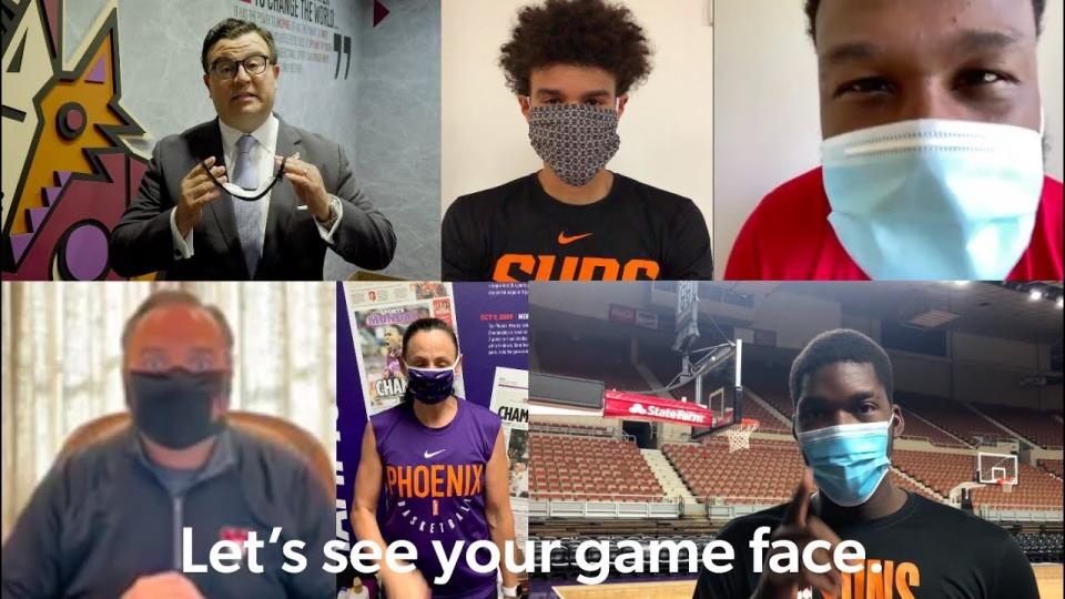 Arizona Pro Sports Teams Encourage People To #MaskUpAZ