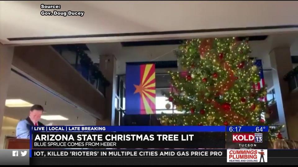 KOLD News 13: Arizona State Christmas Tree Lit