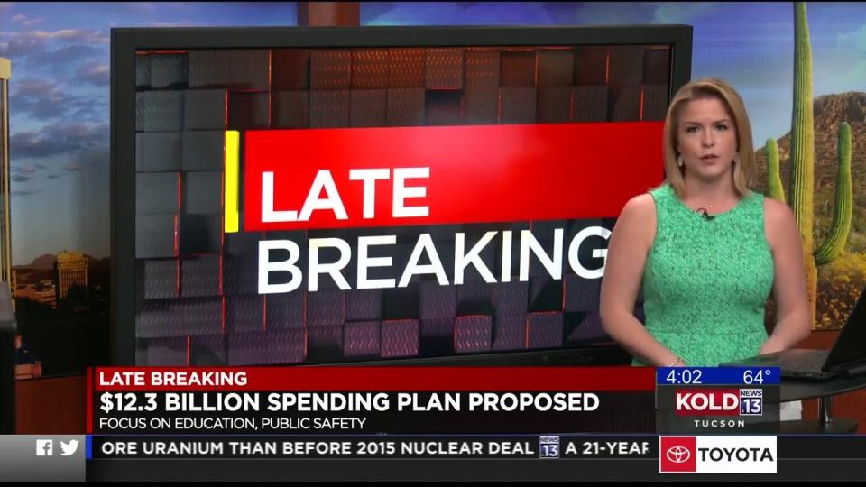 KOLD News 13: $12.3 Billion Spending Plan Proposed