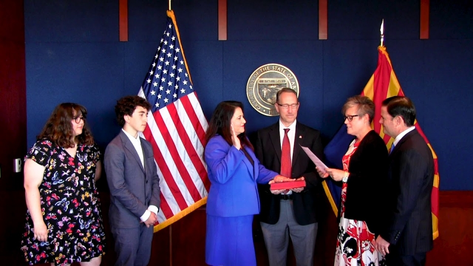Governor Doug Ducey Swears In New Corporation Commissioner Lea Marquez Peterson