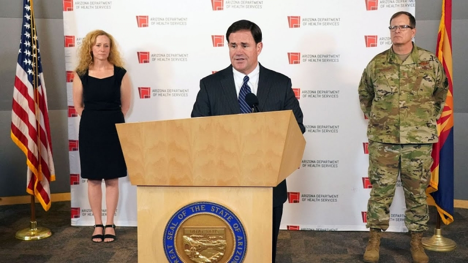 Governor Ducey, Health Director Dr. Christ, Maj. Gen. McGuire Share The Latest On COVID-19