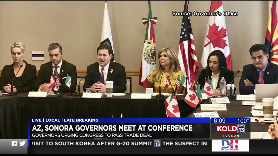 KOLD: AZ, Sonora Governors Urging Congress To Pass Trade Deal