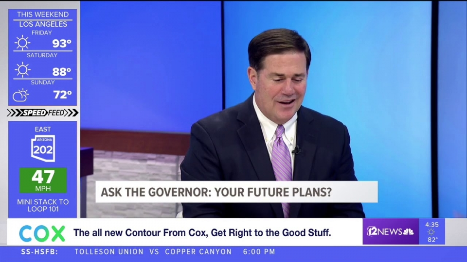 12 News: Ask The Governor: Future Plans