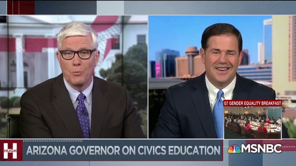 Governor Doug Ducey On MSNBC With Hugh Hewitt