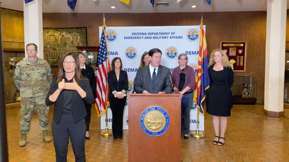 Governor Ducey, Dr. Cara Christ Join Emergency Management Personnel To Share COVID 19 Update