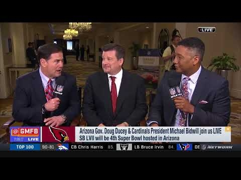 Governor Ducey And Micheal Bidwill Join Good Morning Football To Discuss Super Bowl LVII