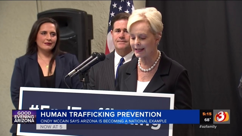3TV: Cindy McCain Leading Human Trafficking Council