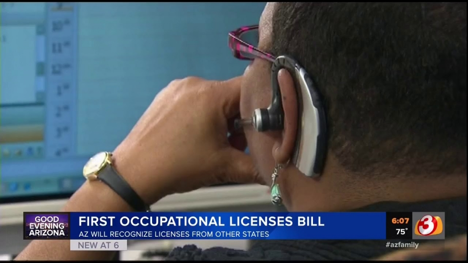 3TV: AZ Will Recognize Licenses From Other States