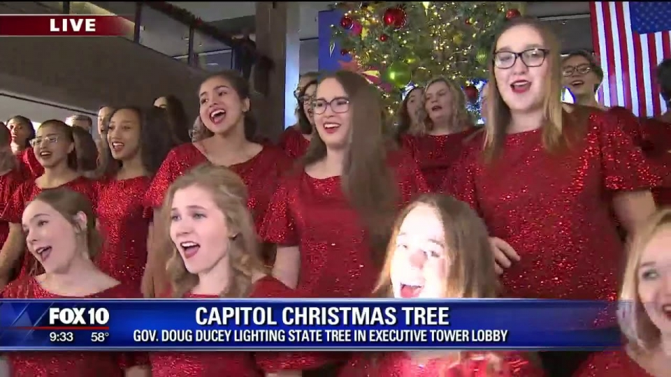 Fox 10: Gov. Ducey Lights State Christmas Tree