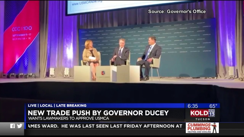 KOLD News 13: New Trade Push By Governor Ducey