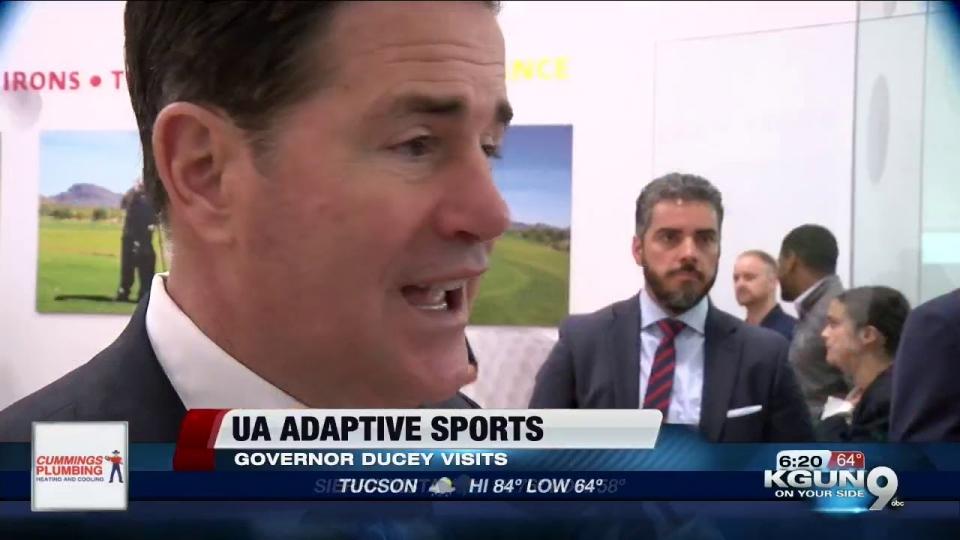 KGUN 9: Governor Ducey Visits UA Adaptive Sports