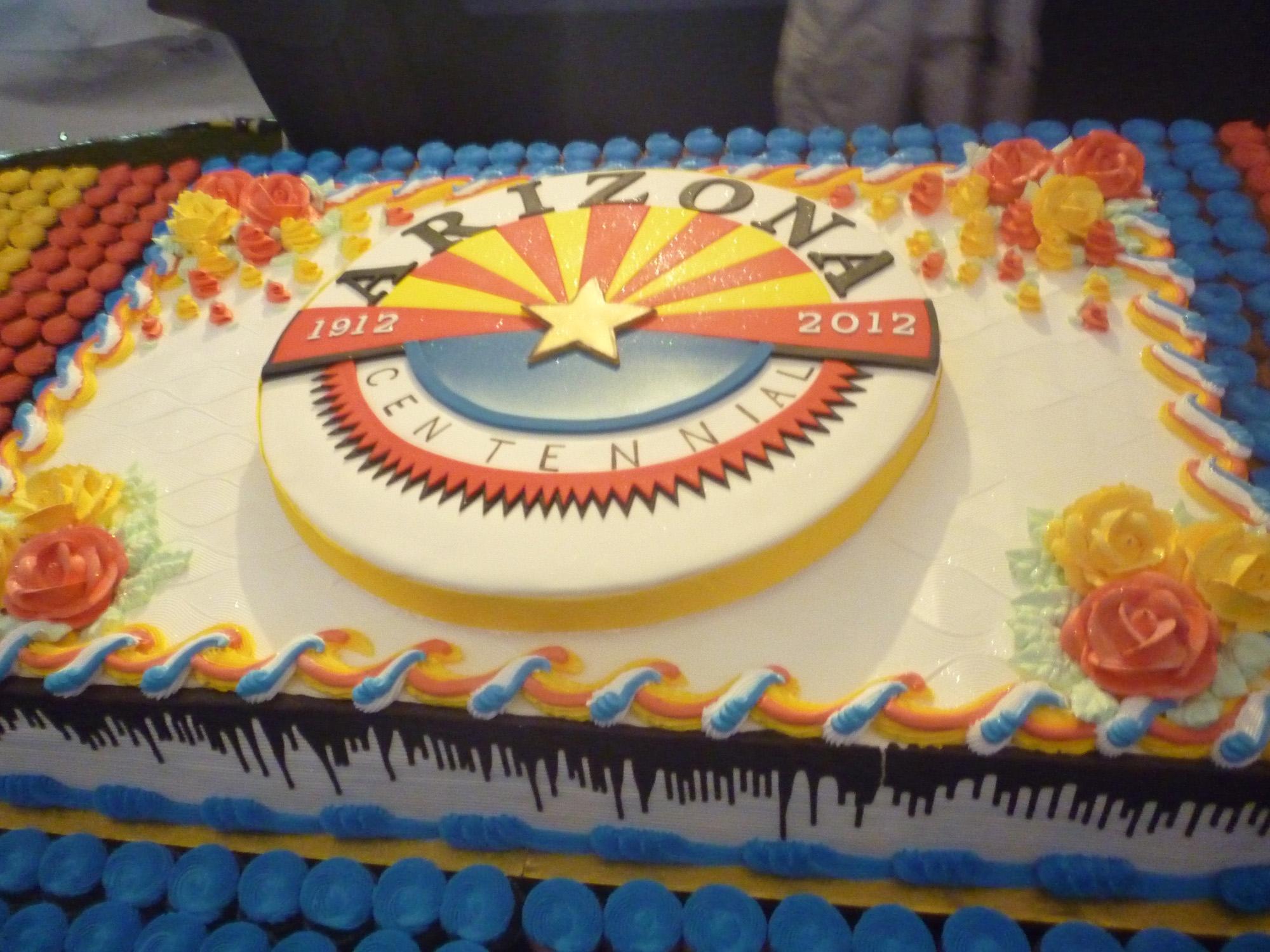 14 Centennial Cake Full1g Office Of The Arizona Governor