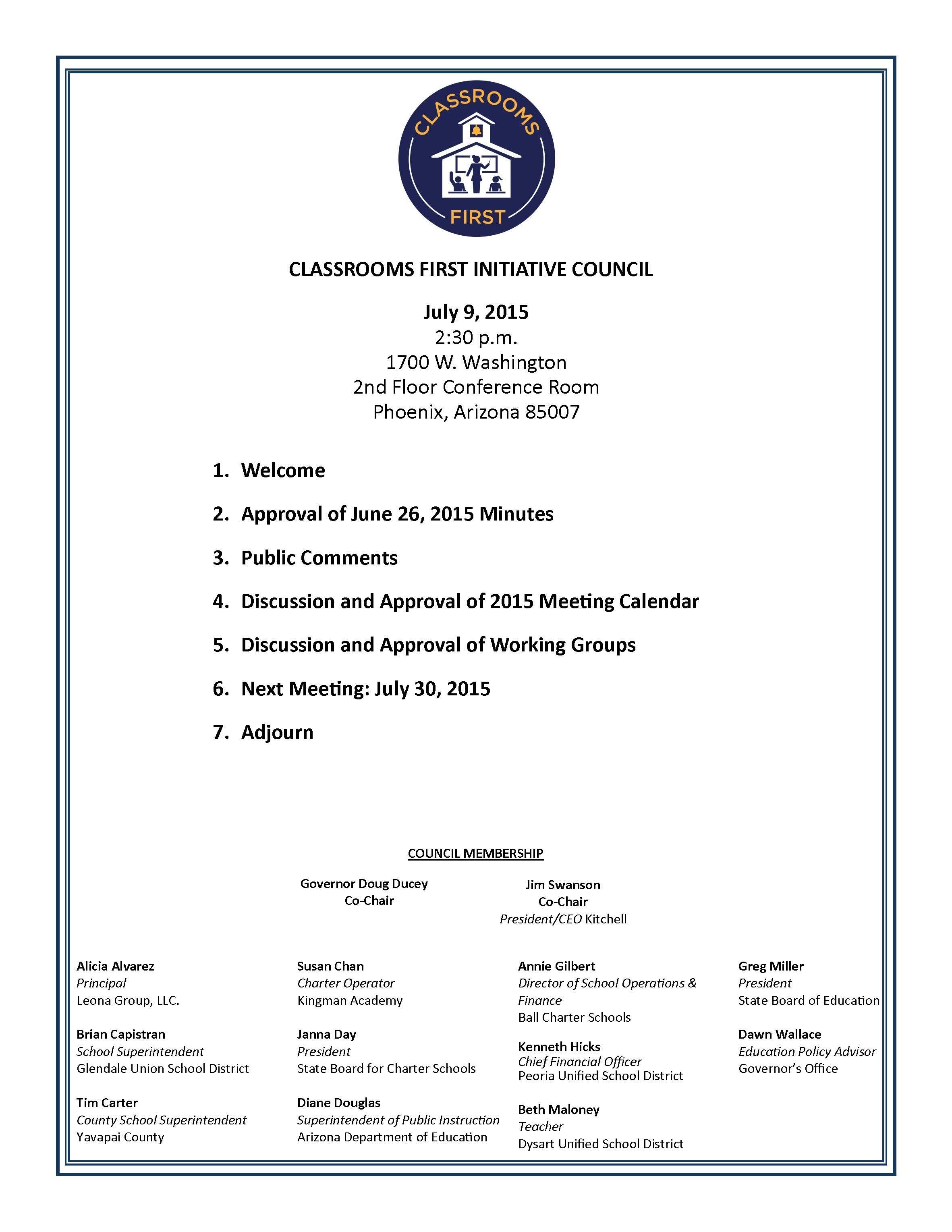 7-9_agenda jpg | Office of the Arizona Governor
