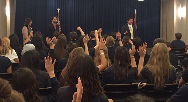 Veritas Preparatory Academy Visits Capitol